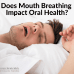 Man sleeping on his back with mouth open with caption Does Mouth Breathing Impact Oral Health