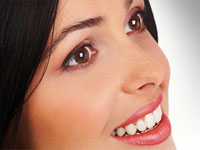 photo for Buffalo cosmetic dentist showing a woman with a cosmetically enhanced smile